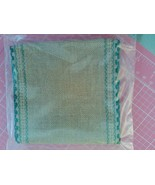"** 24ct Natl Brown Green Scalloped banding 5""w x 36""(1yd)100% linen Zwei... - $13.50"