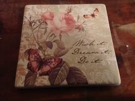 Seagull Studios NEW Wish it Dream it Do it Ceramic Wall Plaque - $19.78