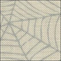 ** Cobweb 28ct linen 17x19 halloween printed cross stitch Fabric Flair - $18.75