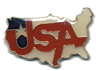 12 Pins - USA , united states of america us pin #1573