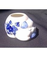 D.A.I.C. Delft Blue White Pig Toothpick Holder  - $6.99