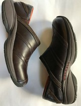 MERRELL Primo Patch Leather Clogs Shoes 9 Bug Brown - $20.00