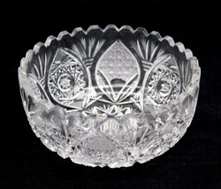 Stunning Antique American Brilliant ABP ABCG Cut Glass Small Bowl Unknown - $44.99