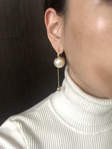 Authentic Christian Dior 2017 Limited Edition Long Pearl Dangle Drop Earrings image 8