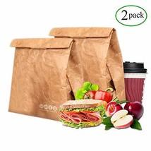 Tyvek Lunch Bag pack of 2, Eco Waterproof Reusable Lunch Box,Tyvek Leakproof Ins - $22.76