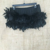 Curtain Call Black Feather Dance Mini Skirt Costume Size ALA Built in Panty - $19.78