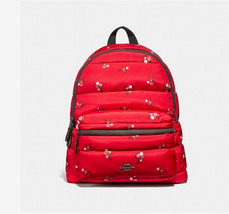 Coach Charlie with Baby Boquet Print F30667 Red Nylon Backpack - $152.00