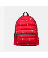 Coach Charlie with Baby Boquet Print F30667 Red Nylon Backpack - $99.00