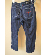 Sergio Valente Men's Dark Denim Red Bull Logo E... - $38.71