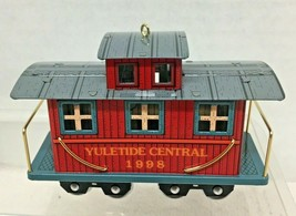 1998 Yuletide Central #5 Caboose Hallmark Christmas Tree Ornament MIB Tag image 2