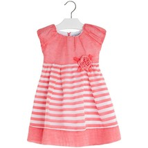 Mayoral Little Girl 2-9 Burnout Stripe Fit Flare Social Dress