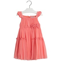 Mayoral Little Girl 2-9 Flutter Sleeve Side Flounce Chiffon Dress