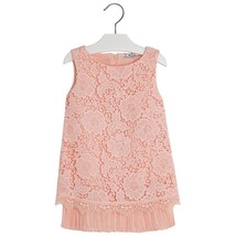 Mayoral Little Girl 2-9 Embroidered Lace Overlay Shift Dress