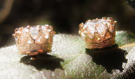 Rose Gold Crown of Success Spell Cast Earrings free with 50.00+ purchase - $20.00