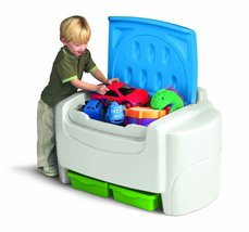 Little Tikes Toy Chest Green/Blue Storage Playr... - $83.95
