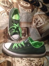 CONVERSE ALL STAR Tennis Shoes Sneakers Mens 4 Womens 6 LIME GREENISH BL... - $26.72