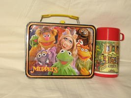 vintage 1979 thermos king-seley jim hensons the muppets metal lunchbox a... - $50.00