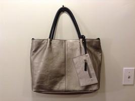 Faux Leather Silver Tote Shoulder Bag
