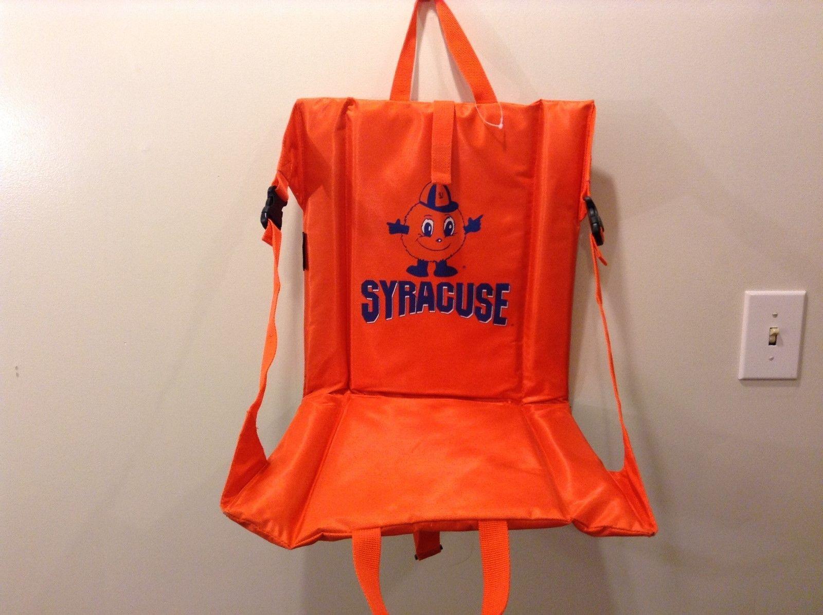 NEW Portable Orange Syracuse Padded Stadium or Picnic Seat