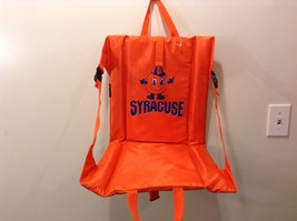 NEW Portable Orange Syracuse Padded Stadium or Picnic Seat