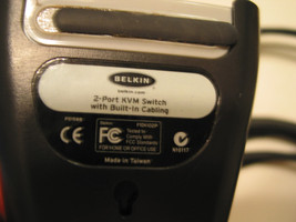 Belkin KVM Switch PS2 VGA with Cables F1DK102P - $2.95
