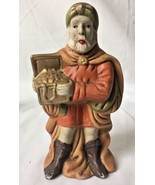 Vintage Christmas Nativity Standing King Wiseman Ceramic Replacement Fig... - $16.95