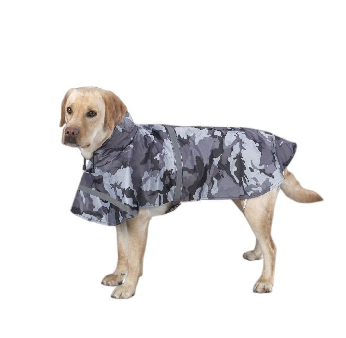 Primary image for Rain Jacket for Dog - XS - Black Camo - Waterproof - Velcro closures