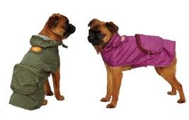 Monkey Bus Stowaway Rain Jackets for Dogs - S - S/M - Easy fit style - $10.96+