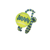 AIR KONG Squeaker Ball with Rope for Dog Toy - M - ultra fetchable shape - $10.60 CAD