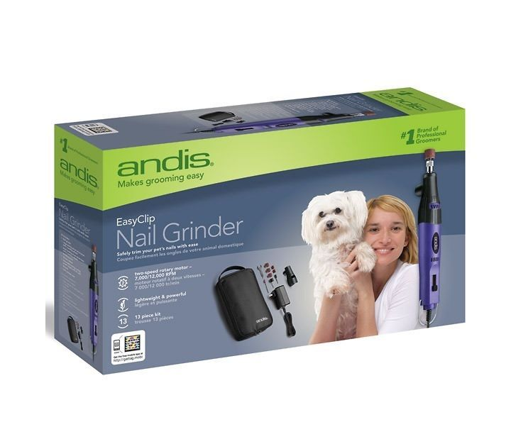 Andis Pet Nail Pro 2 Speed Nail Grinder for dogs & Cats - perfect pedicure ! - $79.90