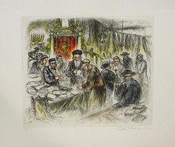 """Ira Moskowitz """"The Meeting"""" - S/N Etching - Retail $500 - COA - See Live - $150.00"""