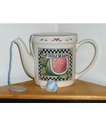 Susan Winget Watermelon Pitcher Yarn Ball Skein Holder for Crochet or Kn... - $34.97