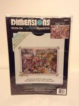 NIP Dimensions #80003 Iron-On Fashion Transfer Flower Market Apply Art &... - $4.99
