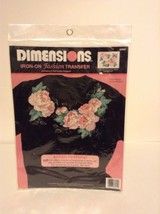 NIP Dimensions #80052 Iron-On Fashion Transfer Flower Pink Apply Art & C... - $4.99