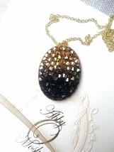 Bridal necklace, European crystals, Druzy style. - $58.41