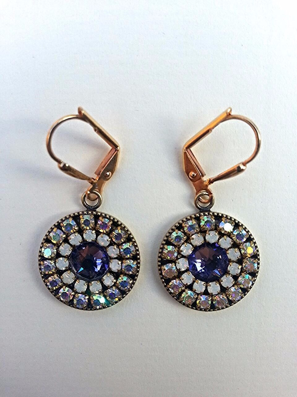 Bridal earrings, Swarovski, European crystals. For sensitive skin. Free Shipping