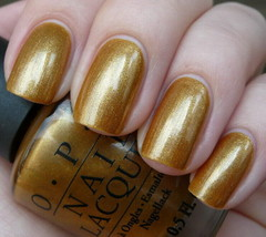 OPI Hong Kong BLING DYNASTY Yellow Gold Shimmer Nail Polish Lacquer H41 ... - $10.33