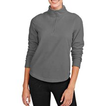 An item in the Sporting Goods category: Danskin Women's Fitness Fleece Quarter Zip Jacket Greystone XL