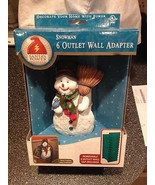 Santa's Power Hand Painted Christmas Holiday Snowman 6 Outlet Wall Adapt... - $17.99