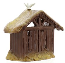 Hagen-Renaker Specialties Ceramic Nativity Figurine Manger with Dove image 5