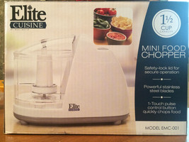Elite Cuisine - 1-1/2-Cup Mini Food Chopper - White - $9.75