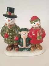 Yankee Candle Jack Frost Snowman Family Votive Candle Holder - $9.75