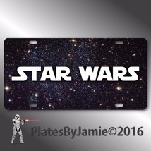 Star Wars Font YOUR NAME ANY TEXT  Aluminum Van... - $14.01