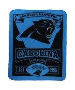 NFL Marquee Logo Lightweight Fleece Blanket (Carolina Panthers) - $25.69