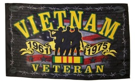 Vietnam Veteran Freedom Fighters Flag 3' X 5' Officially Licensed Banner - $15.95
