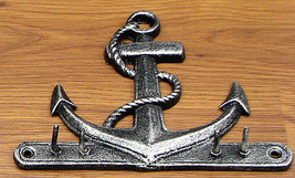 CAST IRON Anchor Key Hook Wall Hanger - $14.84