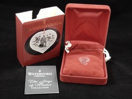 Waterford Crystal Joys Of Winter Ice Skaters Christmas Ornament 2001 4th Edition image 1