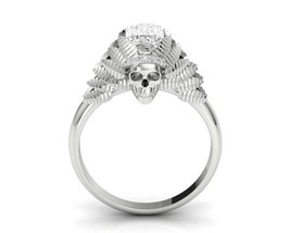Skull Engagement Ring Native American Temple of... - $199.99