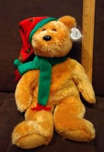 TY Beanie Buddy 2003 HOLIDAY TEDDY the BEAR  - MINT with MINT TAG - $5.93