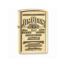 Zippo Jim Beam Emblem High Polished Brass Lighter - $58.81